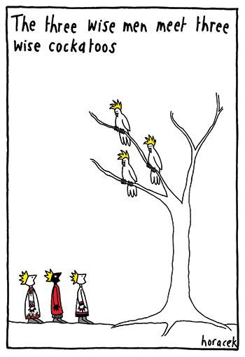horacek-05-3-wise-cockatoos-350